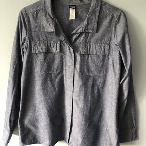 Patagonia denim long sleeved shirt size 8